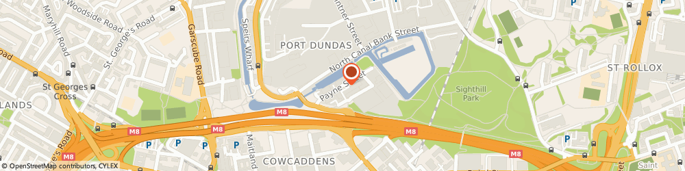 Route/map/directions to Independent Security Supplies, G4 0LE Glasgow, 1B Payne St