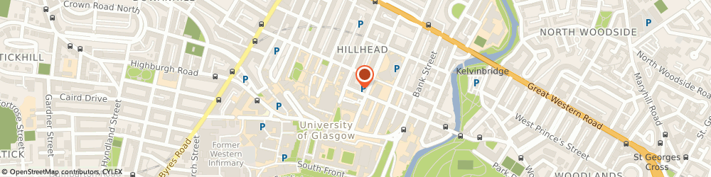 Route/map/directions to Cairn Estate and Letting Agency, G12 8NX Glasgow, 34 Gibson Street