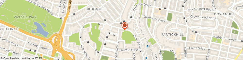 Route/map/directions to Clarence Court Care Home in Glasgow, G11 7PD Glasgow, 234 Crow Road