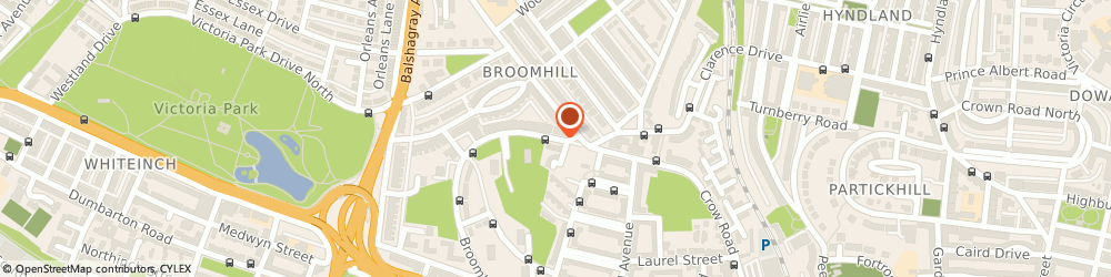 Route/map/directions to Broomlea Special School, G11 7NH Glasgow, 168 BROOMHILL DRIVE