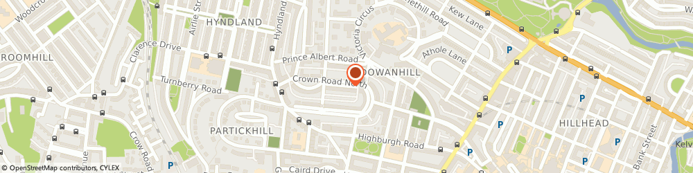 Route/map/directions to Frank Devine Ba,lmus,tcl, G12 9HJ Glasgow, 6, Crown Gardens, Dowanhill