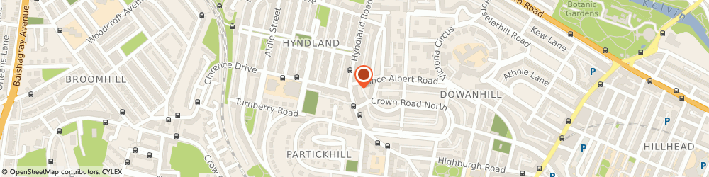 Route/map/directions to DPD Parcel Shop Location - Johnsons The Cleaners, G12 9JA Glasgow, 135 Hyndland Road