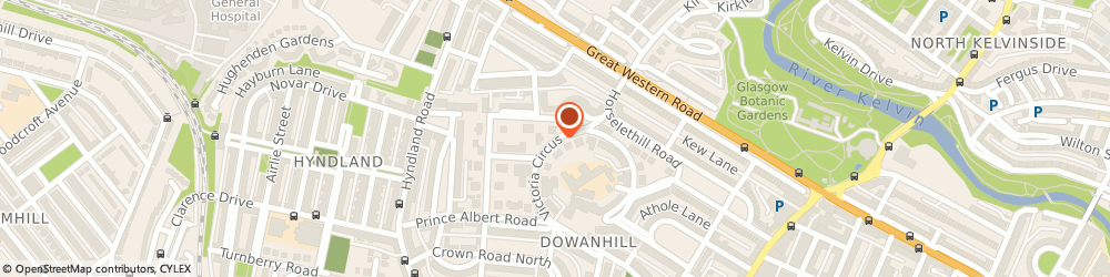 Route/map/directions to Morrison, A C M, G12 9LD Glasgow, 2 Victoria Circus, Northcote Surgery