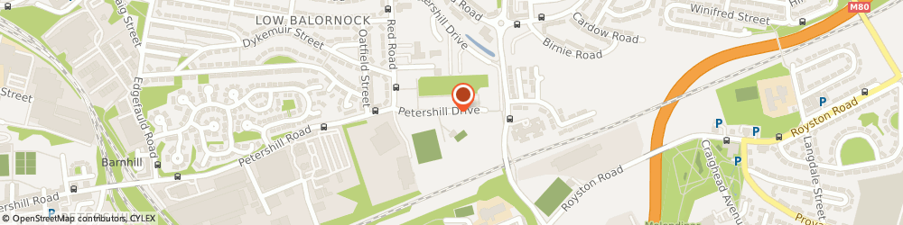 Route/map/directions to Red Road Recreation Centre, G21 4DR Glasgow, 100 PETERSHILL DRIVE