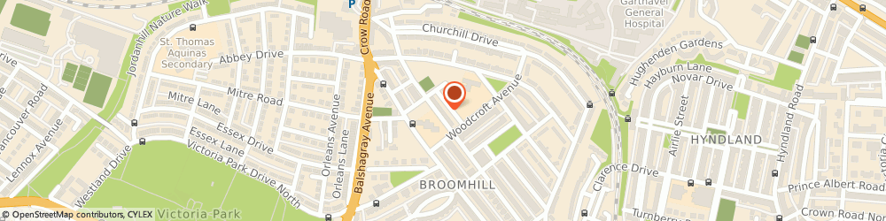 Route/map/directions to Glasgow City Council, G11 7EE Glasgow, 67 RANDOLPH RD, BROOMHILL PRIMARY SCHOOL, ANNEXE