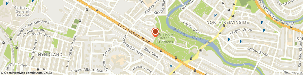 Route/map/directions to The Human Performance Clinic, G12 0TQ Glasgow, 3 Kirklee Terrace