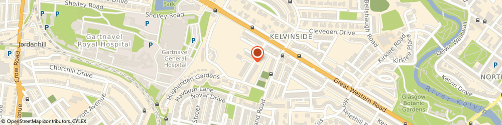 Route/map/directions to Restoring Balance Yoga and Massage, G12 9XP Glasgow, 32 Hughenden Road