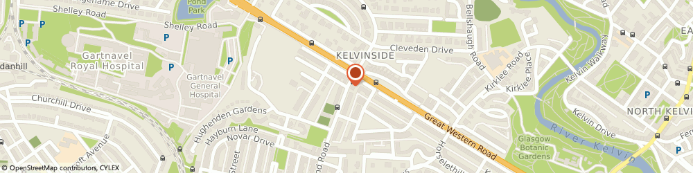 Route/map/directions to The Foot and Leg Clinic, G12 9HZ Glasgow, 164 Hyndland Rd