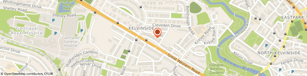 Route/map/directions to Kelvin Capital Limited, G12 0RR Glasgow, 2 LANCASTER CRESCENT