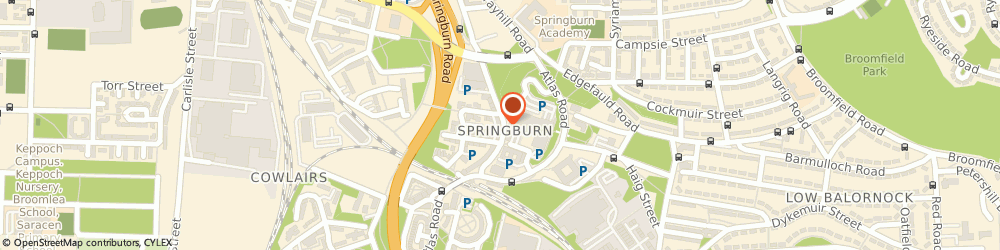 Route/map/directions to TSB Bank, G21 1DX Glasgow, 247/255 Springburn Way