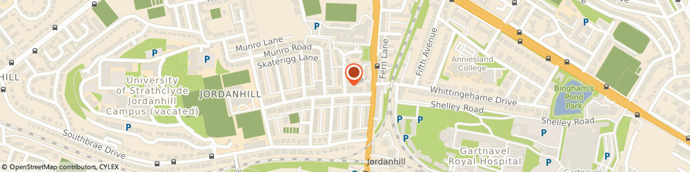 Route/map/directions to Westbourne Gardens Nursery School, G13 1QS Glasgow, 10-12 Woodend Dr