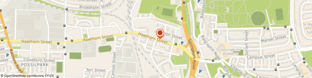 Route/map/directions to Springburn, G22 6AZ Glasgow, 621 HAWTHORN STREET