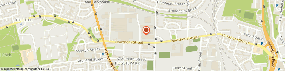 Route/map/directions to Glasgow City Council, G22 6HY Glasgow, 73 HAWTHORN ST, TAXI TESTING CENTRE