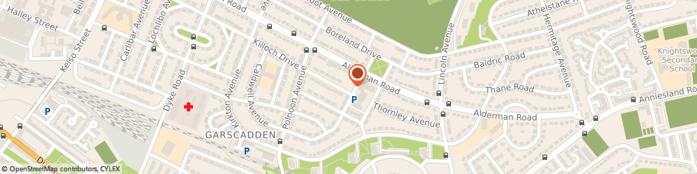Route/map/directions to Knightswood Congregational Church, G13 3BA Glasgow, 12 Dunterlie Ave