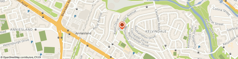 Route/map/directions to Home Supported Living Services, G12 0DZ Glasgow, 174 Dorchester Avenue