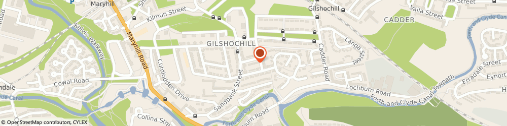 Route/map/directions to QICHENG DIAN LTD, G20 0NQ Glasgow, 1/2 22 Gilhill Street