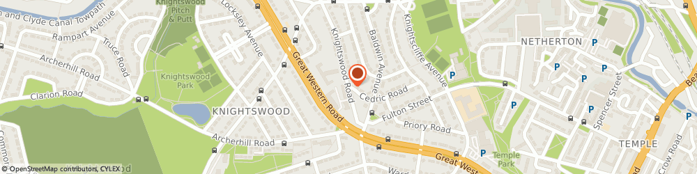 Route/map/directions to Elliots Fruit & Flowers, G13 2EX Glasgow, 205 KNIGHTSWOOD ROAD