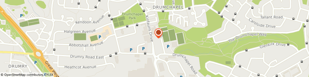 Route/map/directions to Drumchapel Day Nursery, G15 7TG Glasgow, 60 Kinfauns Drive