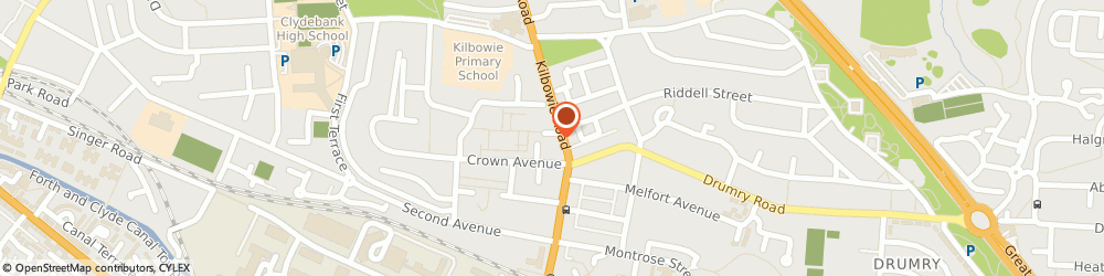 Route/map/directions to UPS Solutions Logistics, G81 3BZ Clydebank, 7-9 Radnor Street