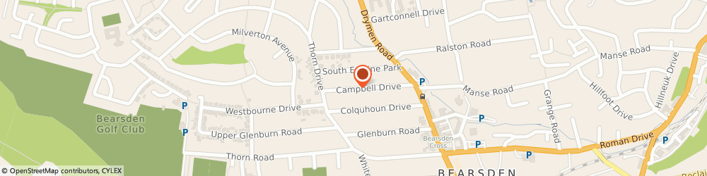 Route/map/directions to B J Beadsworth, G61 4NE Bearsden, 28 Campbell Drive
