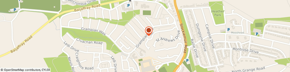 Route/map/directions to Buchanan Lodge Care Home in Glasgow, G61 4SP Bearsden, 1 Grampian Way