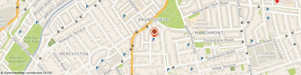 Route/map/directions to Bruntsfield Medical Practice, EH10 4EY Edinburgh, 11 Forbes Road