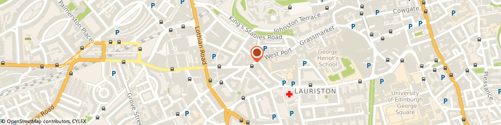 Route/map/directions to Meditext, EH3 9DS Edinburgh, 27 Lauriston Street
