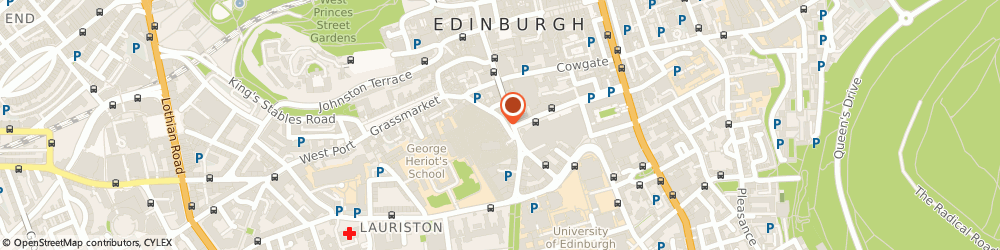 Route/map/directions to Greyfriars Bobby's Bar, EH1 2QE Edinburgh, 30-34 Candlemaker Row