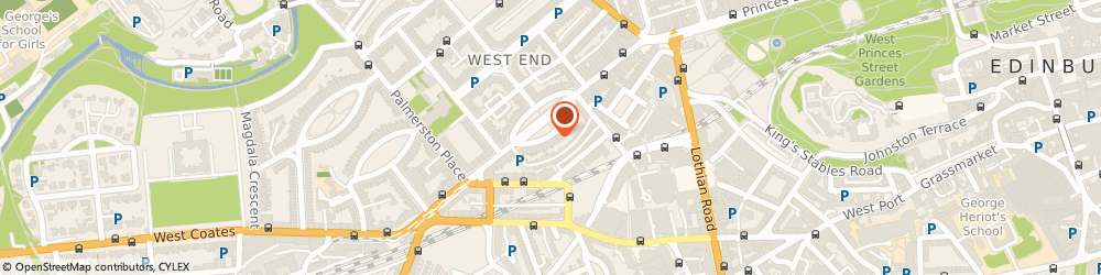 Route/map/directions to Shepherd Chartered Surveyors, EH3 8HA Edinburgh, 12 Atholl Crescent