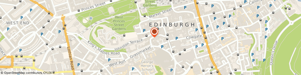 Route/map/directions to The Red Door Gallery, EH1 2JW Edinburgh, 42 Victoria St