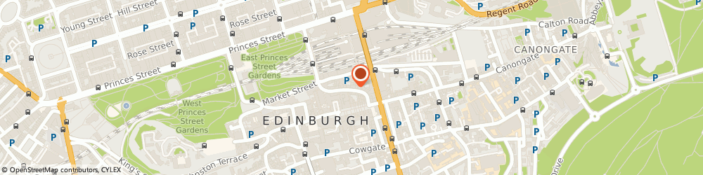 Route/map/directions to D.L Cavanagh Antiques, EH1 1BS Edinburgh, 49 COCKBURN STREET