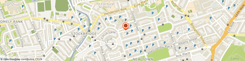 Route/map/directions to salonfrog, EH3 6RE Edinburgh, 64 Cumberland Street