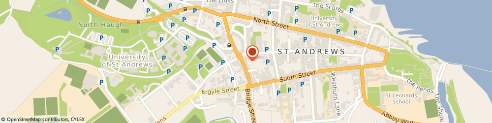 Route/map/directions to Jack Fisher Partnership, KY16 9XE St Andrews, 7 ALEXANDRA PL