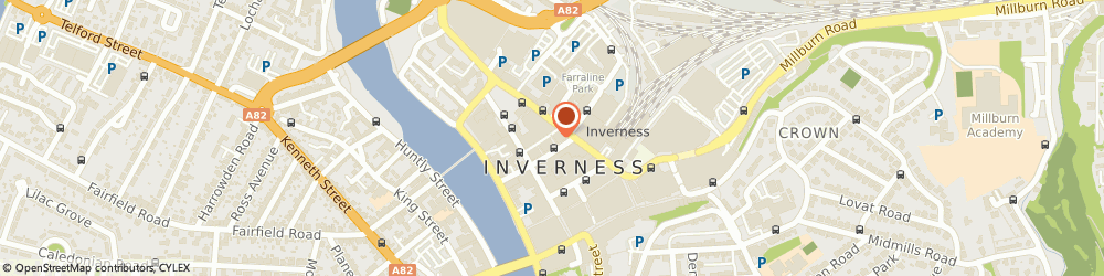 Route/map/directions to Post Office Limited, IV1 1AX Inverness, 14 - 16 Queensgate