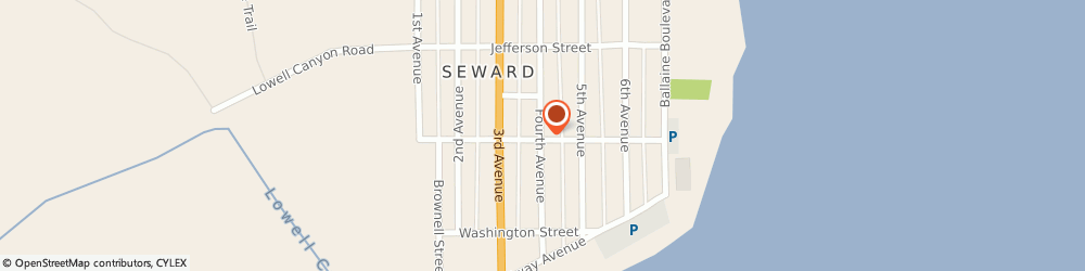 Route/map/directions to First National Bank of Alaska Seward, 99664 Seward, 303 4Th Avenue