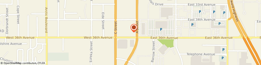 Route/map/directions to First National Bank of Alaska South Center Branch, 99503 Anchorage, 201 W. 36Th Avenue
