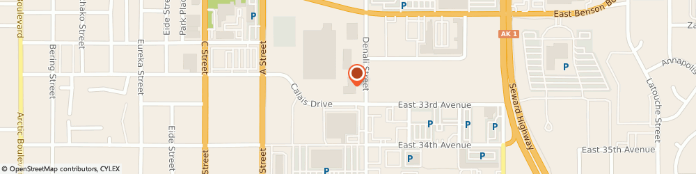 Route/map/directions to Jackson Hewitt Tax Service, 99503 Anchorage, 3210 DENALI STREET