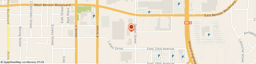 Route/map/directions to H&R Block, 99503 Anchorage, 3120 Denali St