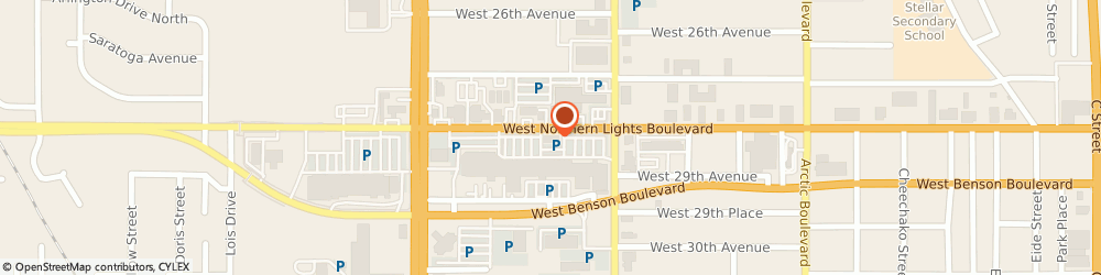 Route/map/directions to First National Bank of Alaska Northern Lights Branch, 99503 Anchorage, 1210 W. Northern Lights Blvd.