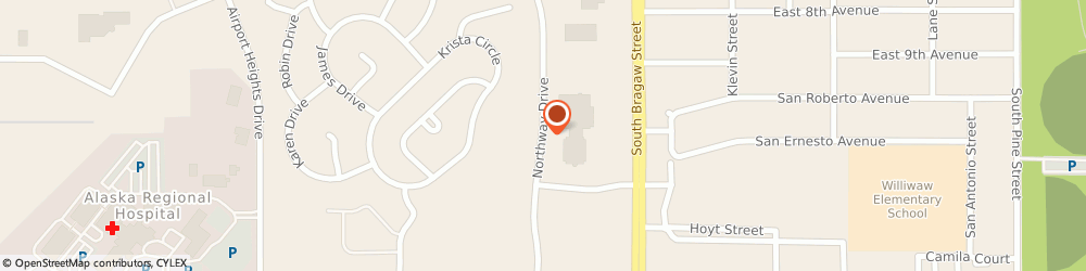 Route/map/directions to H & r Block - Mid Town Wal Mart, 99501 Anchorage, NORTHWAY MALL